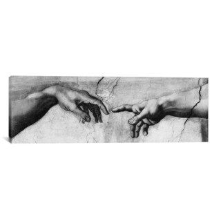 iCanvas ART Michelangelo di Lodovico Buonarroti Simoni The Creation of Adam V Canvas Print Wall Art