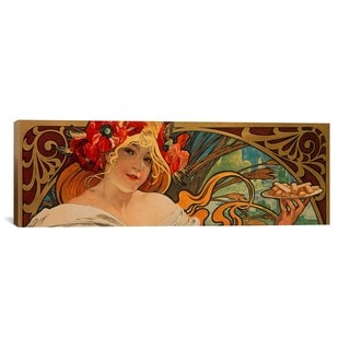 iCanvas ART Alphonse Mucha Biscuits Lefevre Utile Canvas Print Wall Art
