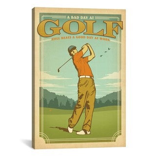 iCanvas ART Anderson Design Group Golf Lucky Canvas Print Wall Art