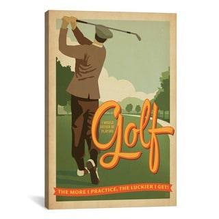 iCanvas ART Anderson Design Group Golf BadDay Canvas Print Wall Art