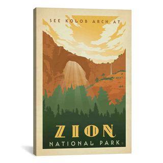 iCanvas ART Anderson Design Group ASA National Park Zion Canvas Print Wall Art