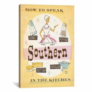 iCanvas ART Anderson Design Group South Carolina Series: How to Talk Kitchen Canvas Print Wall Art