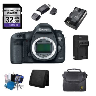 Canon EOS 5D Mark III DSLR Camera Body 32GB Bundle
