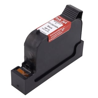 Refilled Insten Black Remanufactured Ink Cartridge Replacement for HP C6615D/ 15