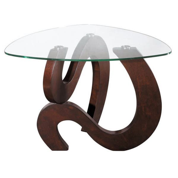 Nassau Shaped End Table Overstock 9120537