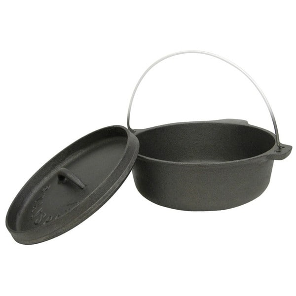 Stansport 2-quart Cast Iron Legless Dutch Oven