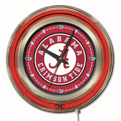 Holland Neon SEC Logo Clock