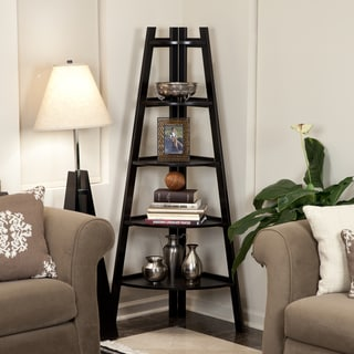 corner living room table. danya b 5-tier espresso corner ladder display bookshelf living room table t