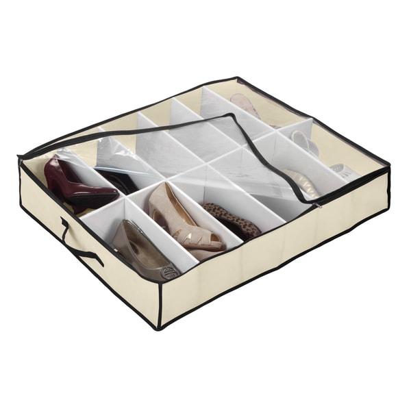 Kennedy International Cream Under-the-Bed Shoe Organizer