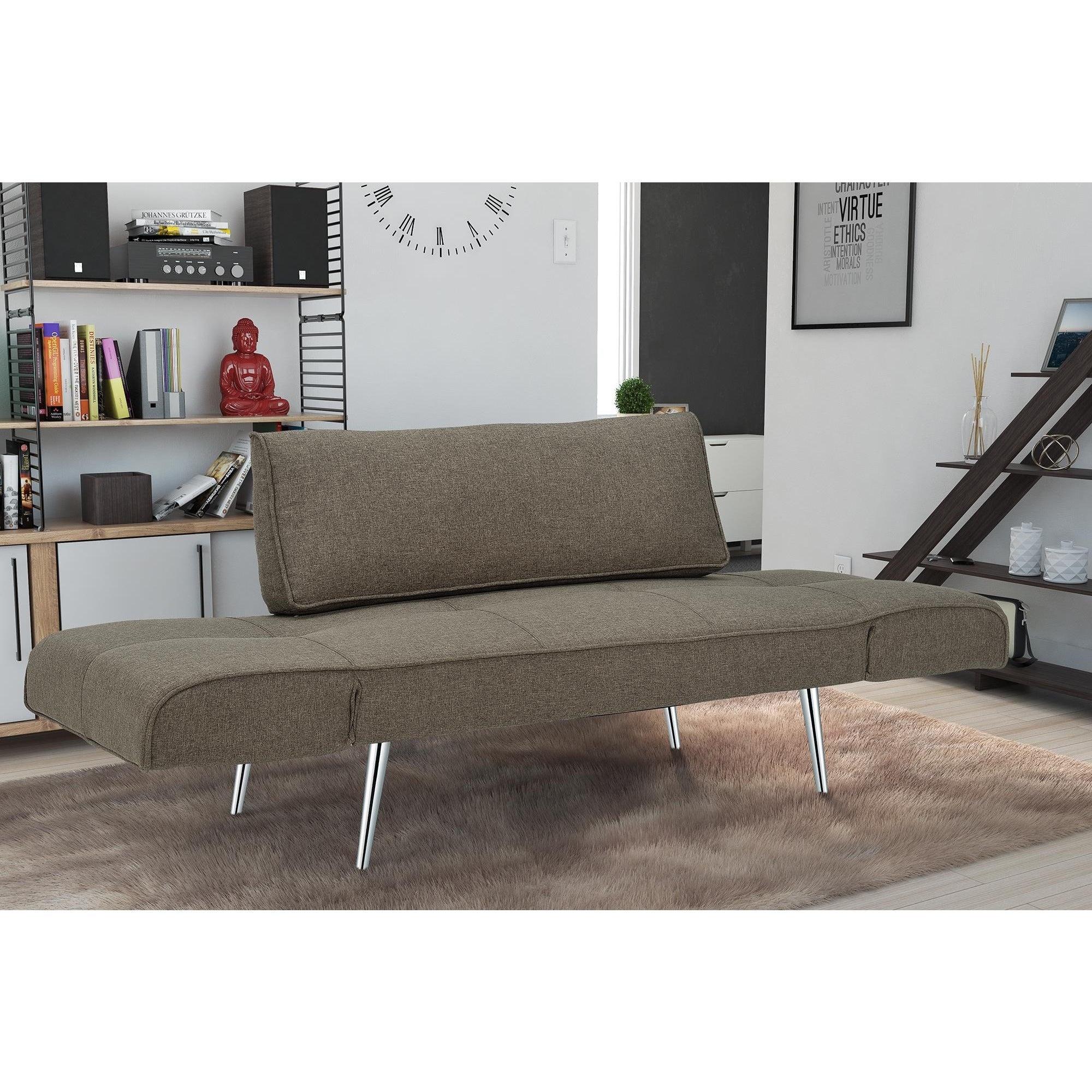 Dhp Euro Futon Sofa Bed With Magazine Storage
