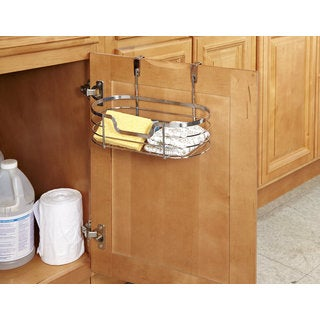 Small Chrome Over the Cabinet Organizer