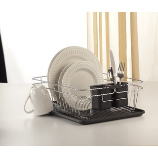 3 Piece Chrome Twisted Dish Rack