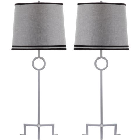 Thom Filicia Lighting 36-inch Winter White Shotwell Table Lamp (Set of 2)