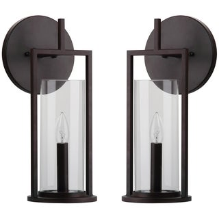 Thom Filicia Lighting 16.5-inches Blacksmith Bronze Elbridge Wall Sconce (Set of 2)