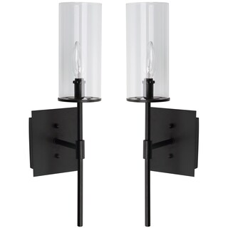 Thom Filicia Lighting 18.5-inches Midnight Black Sunnycrest Wall Sconce (Set of 2)