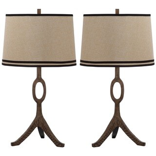 Thom Filicia Lighting 33-inch Driftwood Brown Packwood Table Lamp (Set of 2)