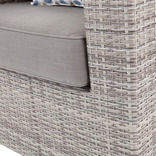Grey Wicker Chairs harper blvd brixton outdoor wicker chair and ottoman 4pc set