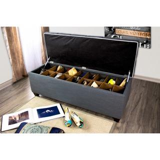 The Sole Secret Shoe Storage Bench - Loft Charcoal