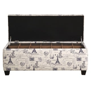 The Sole Secret Shoe Storage Bench - French Stamp Blue