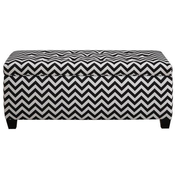 Terrific Shop The Sole Secret Shoe Storage Bench Zig Zag Black And Ocoug Best Dining Table And Chair Ideas Images Ocougorg
