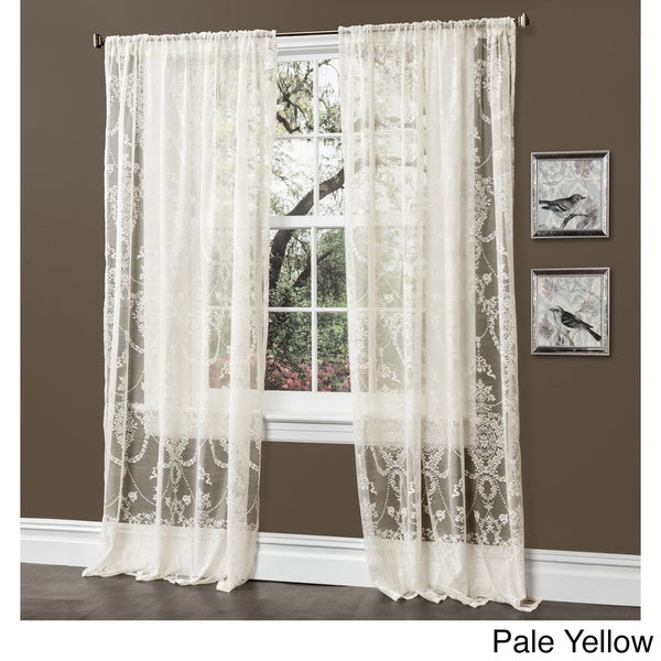 Lush Decor Anya 84-inch Sheer Curtain Panel Pair - 52 x 84