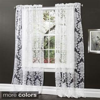 Lush Decor Brea 84-inch Sheer Curtain Panel Pair