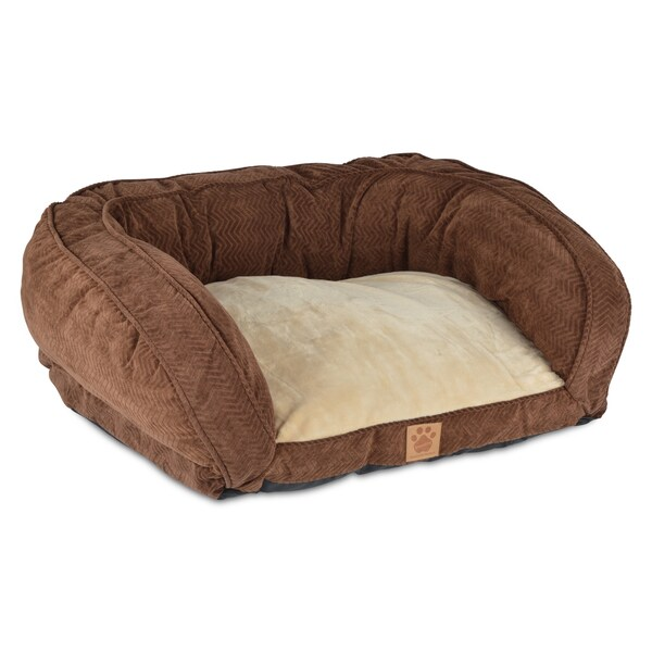 Shop Snoozzy Chocolate Gusset Couch Pet Bed Free