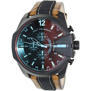 Diesel Men's DZ4305 'Mega Chief' Black Watch - ORANGE