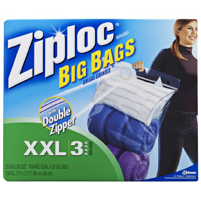 Johnson Ziploc XXLarge Big Bags with Double Zipper (Pack ...