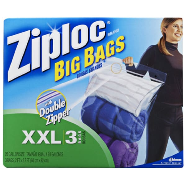 Ziploc Large Bags With Double Zipper Pack Of 8 Bo