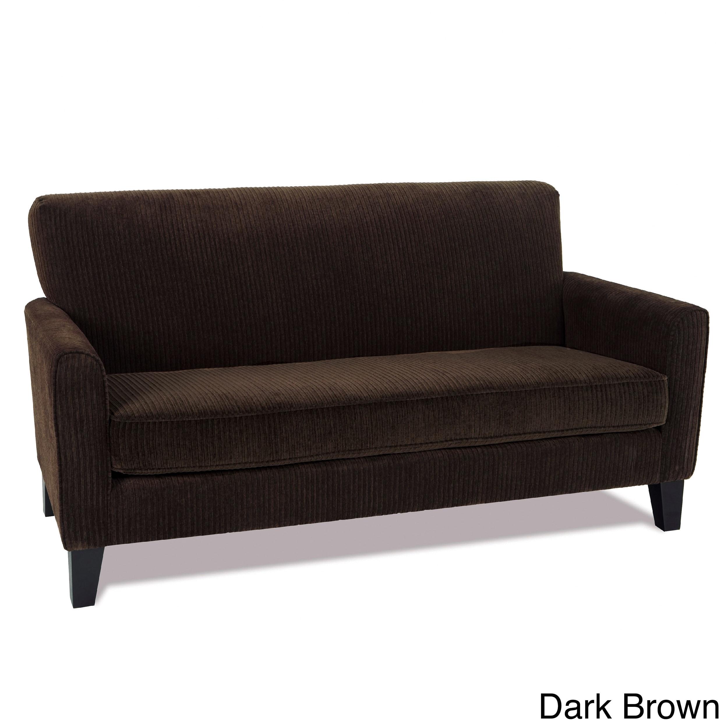 Office Star Products Sierra Loveseat (Dark Brown), Black ...