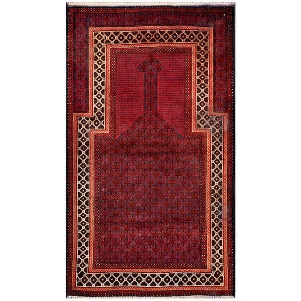 Herat Oriental Afghan Hand Knotted 1950s Semi Antique