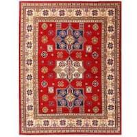 Herat Oriental Afghan Hand-knotted Kazak Wool Rug (7'10 x 10'4)