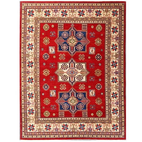 Handmade Herat Oriental Afghan Kazak Wool Rug (Afghanistan) - 7'10 x 10'4