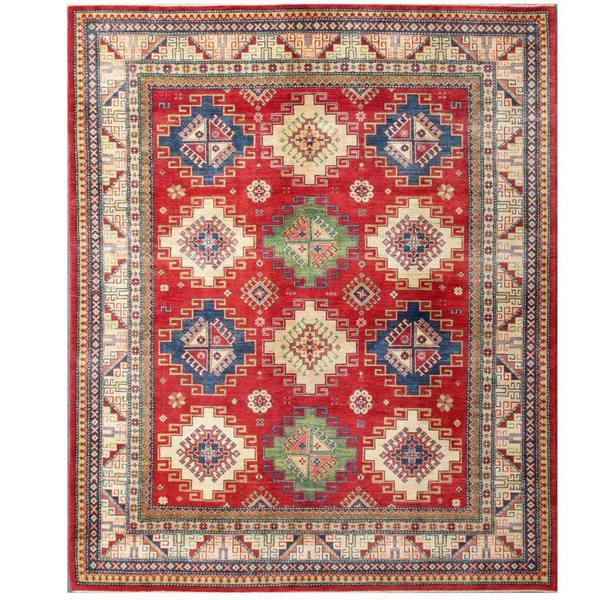 Herat Oriental Hand Tufted Wool Red Black Area Rug: Shop Herat Oriental Afghan Hand-knotted Kazak Wool Rug (8