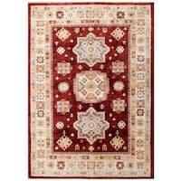 Handmade Herat Oriental Afghan Kazak Wool Rug (Afghanistan) - 5'6 x 7'9