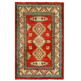 Herat Oriental Afghan Hand-knotted Kazak Wool Rug (2' x 3'1)