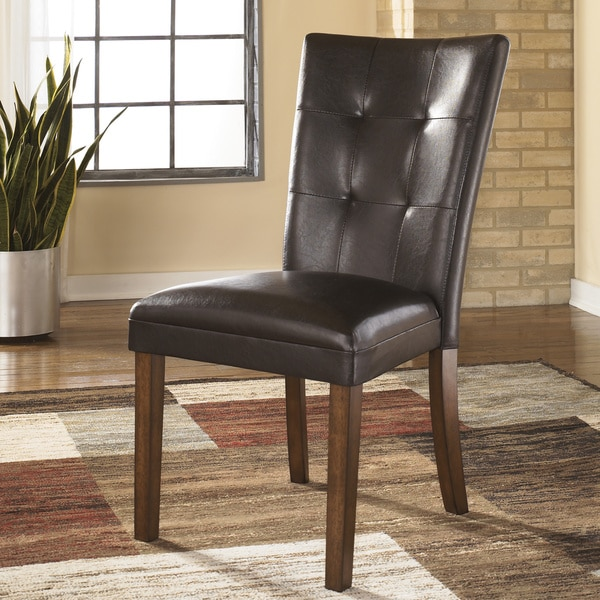 Shop Signature Design By Ashley Lacey Brown Woodfaux Leather Dining