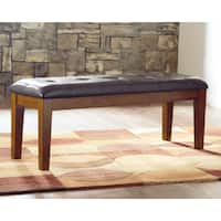 Signature Design by Ashley Ralene Brown Leatherette/Wood Dining Bench