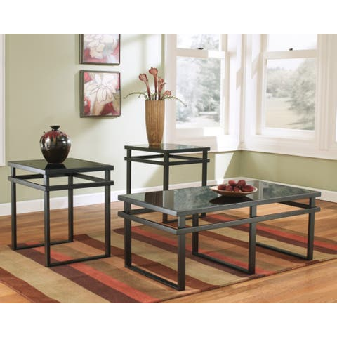 Laney 3-Piece Black Occasional Table Set