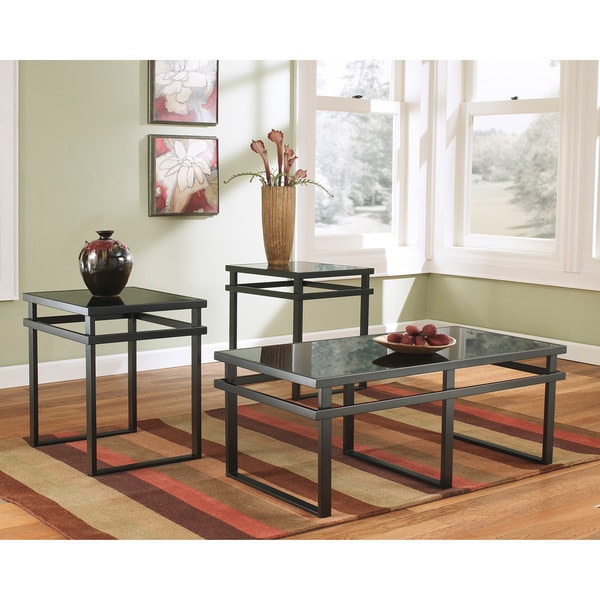 Shop Signature Designs By Ashley Laney Piece Occasional Table Set - Ashley signature coffee table set