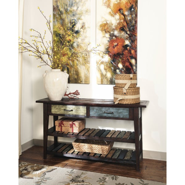 Signature Designs By Ashley Mestler Rustic Sofa Table