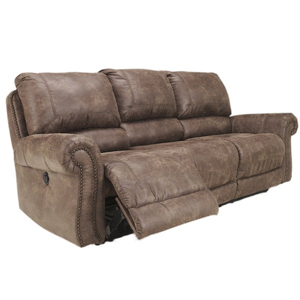 Ashley Brown Leather Sofa: Shop Signature Design By Ashley Oberson Brown Reclining