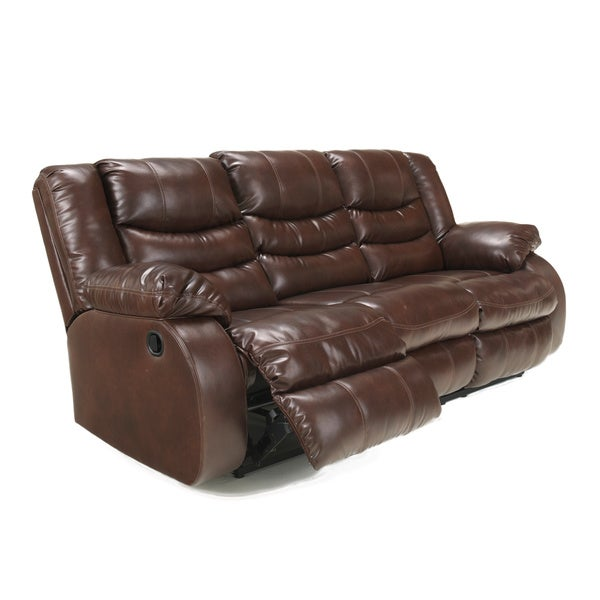 Signature Design by Ashley Linebacker DuraBlend Espresso Reclining Sofa - Free Shipping Today - Overstock.com - 16307596  sc 1 st  Overstock.com : ashley leather recliners - islam-shia.org