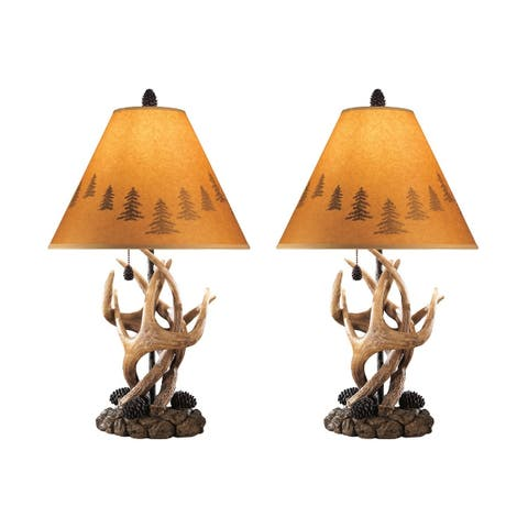 Derek Brown 24 Inch Poly Table Lamps - Set of 2