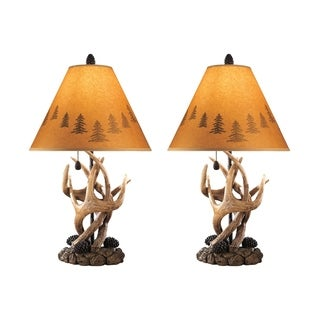 Derek Brown 24 Inch Poly Table Lamps   Set Of 2