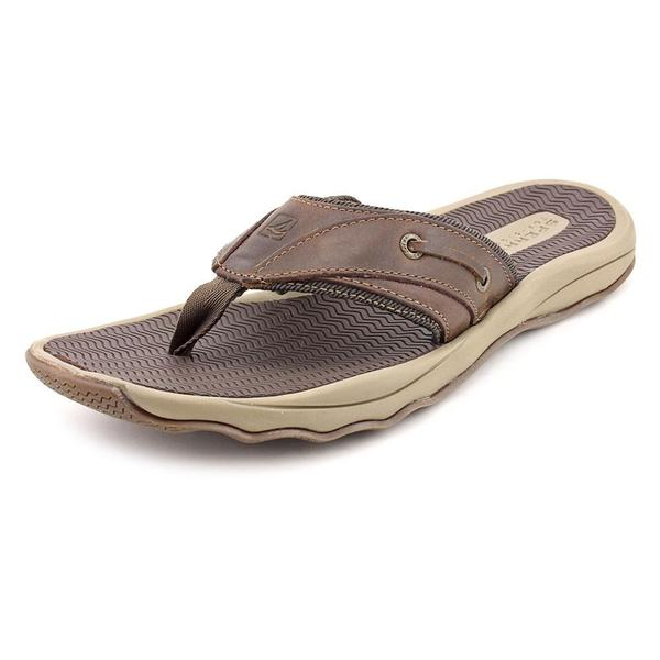d0a5ec7cbad1 Shop Sperry Top Sider Men s  Outer Banks Thong  Leather Sandals ...