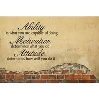 Ability, Motivation, Attitude Vinyl Wall Art