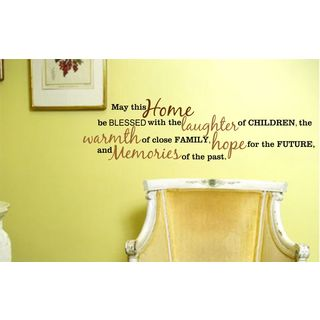 May This Home Be Blessed... Vinyl Wall Art