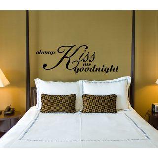 Always Kiss Me Goodnight Vinyl Wall Art